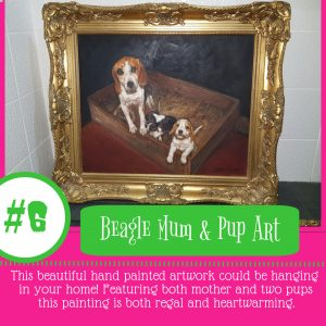 Beagle Mum & Pup Art #6